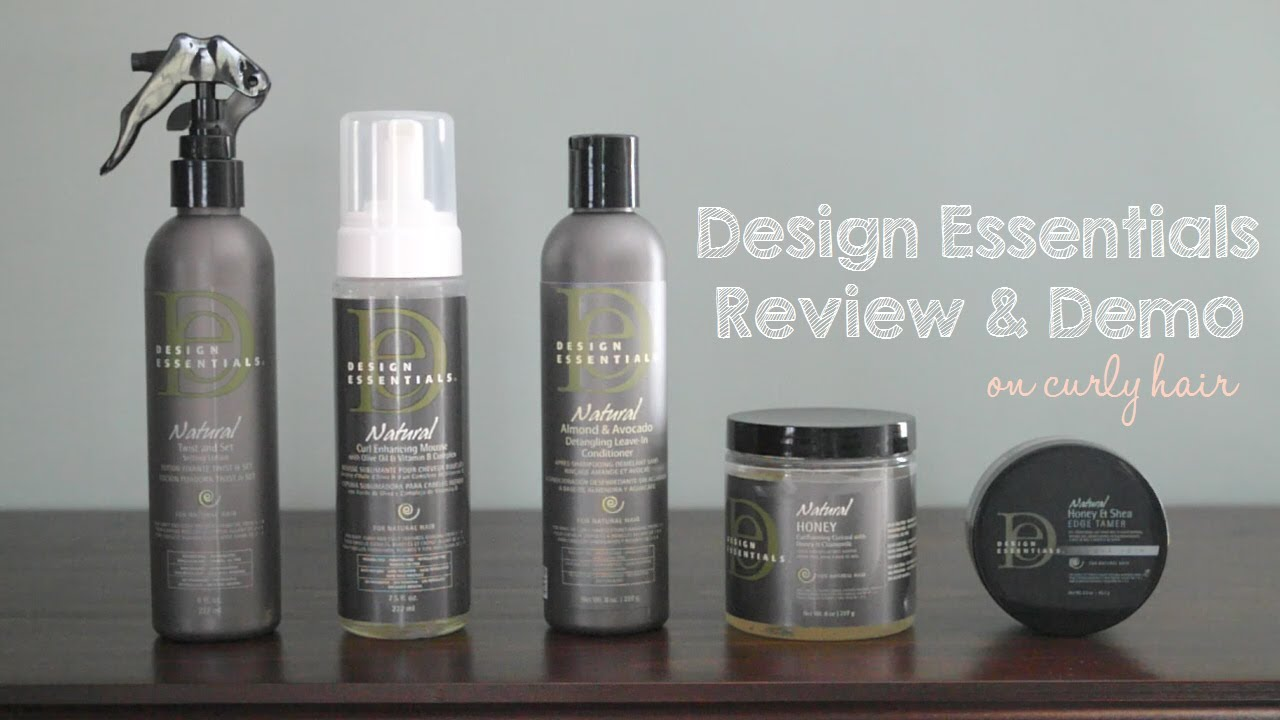 Design essentials natural hair products review youtube for Products to design