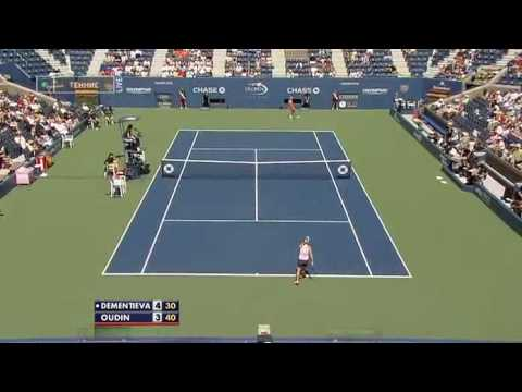 WTA 2009 US OPEN 2R Elena Dementieva vs Melanie Oudin Highlights【1】 Video