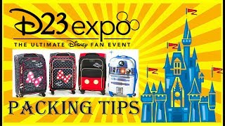 Disney D23 Expo Preparation Part 15: What to PACK / BRING to the D23 Expo.  Convention Tips & Tricks