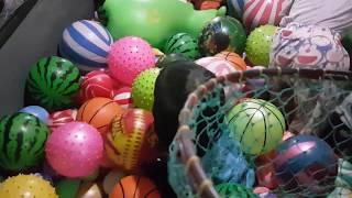 Mandi Bola Di Dalam Gerobak Perosotan Basket Permainan Anak Anak Belajar Sambil Bermain