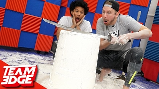 Giant Flour Tower Challenge!!  ft: Marlin