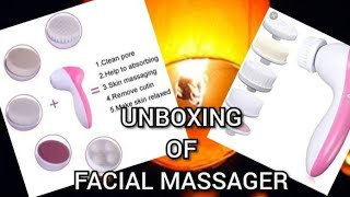 Unboxing HK Villa facial massager from Amazon | Candle kite or Sky Lantern blow