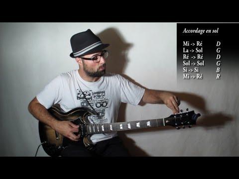 Accorder sa guitare en sol ouvert / open G tuning (technique 04) avec zamzam