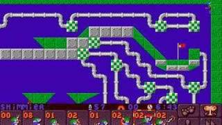 Lemmings 2 (PC) sports lvl 9 (easy solution)