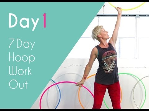 Day1 | 7 Minute Hula Hoop Workout | Hooplovers Hoop Fitness video