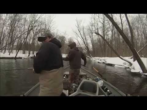 March Steelhead Fishing on the Salmon River - Pulaski, NY 2014