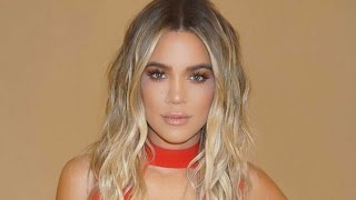 Khloe Kardashian Sports a Red Hot Dress for International Women's Day