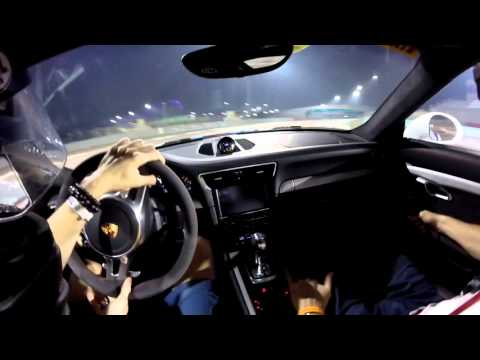 Two Porsche 991 911 GT3 having fun and a bit of sideways action POV