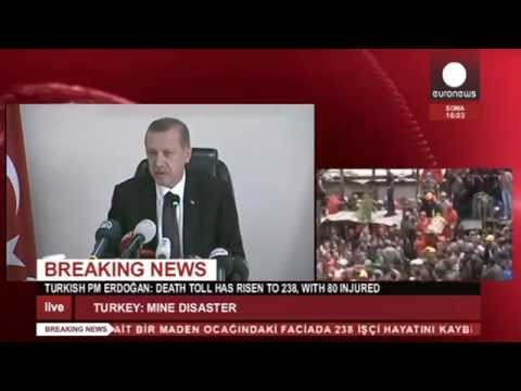 Turkish PM Erdogan speaks on mine disaster [LIVE RECORDED]