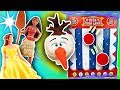 PlayDoh Drill N Fill Head Olaf Disk Drop Game with Moana, Belle, Elsa and Jasmine Disney Princesses!