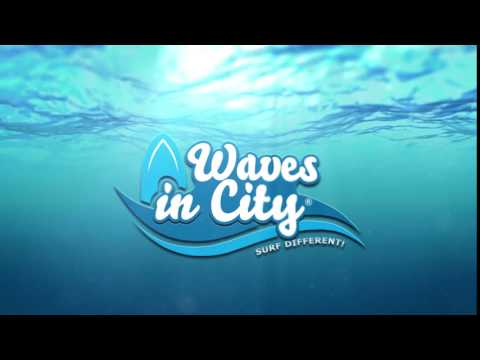 Logo Video Waves in City