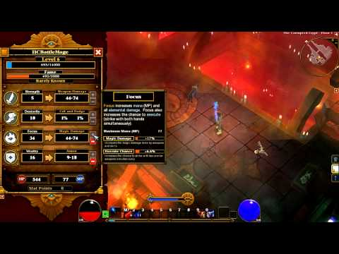 Torchlight II Beta Gameplay - Elite Hardcore Embermage