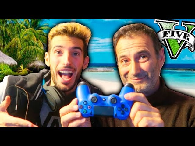 MY FATHER PLAYS GTA FOR THE FIRST TIME! GTA 5 MODS PC WITH MY FATHER Makiman