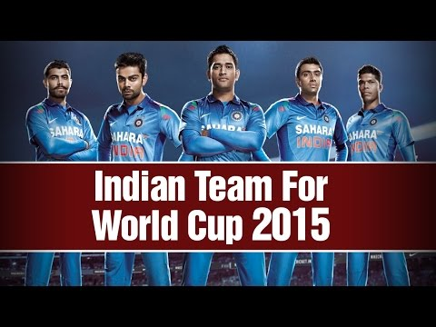 ICC World Cup 2015 - BCCI announce 15members team for ICC World Cup 2015
