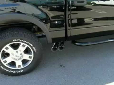 2007 Ford F150 with Bassani Side Exit Exhaust - YouTube