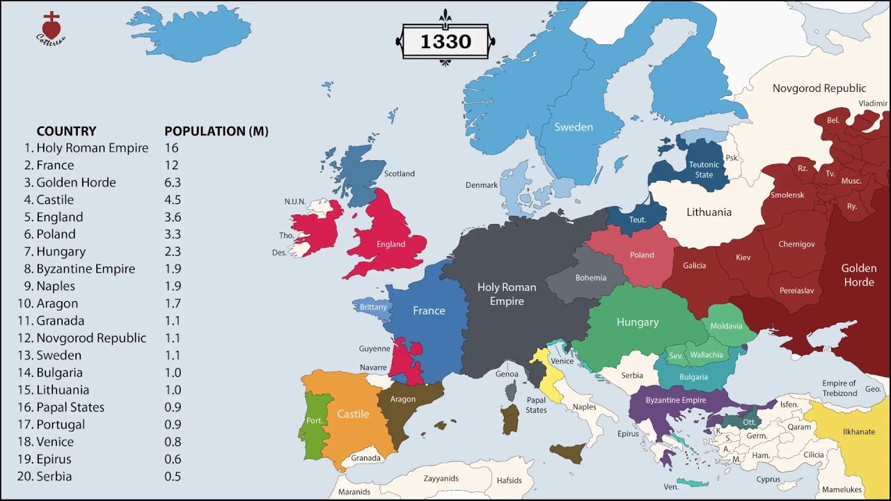 The History of Europe: Every Year - YouTube