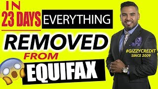Credit repair 100 percent deleted off Equifax and Transunion credit file
