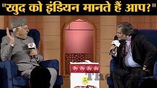 AAJ TAK Anchor Punya Prasun Bajpai  के सवाल पर क्यों भड़क गए Farooq Abdullah