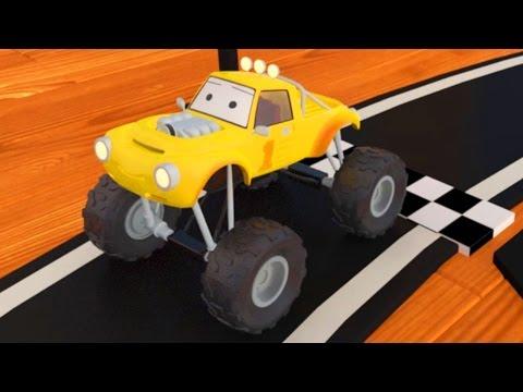 Мини джип Лукас строит гоночную трассу  | мультфильм для детей на русском языке про машинки