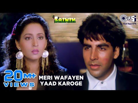 Meri Wafayen Yaad Karoge - Sainik | Akshay Kumar & Ashwini Bhave | Kumar Sanu & Asha Bhosle video