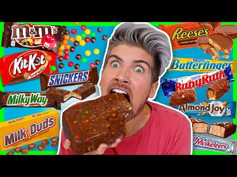 MIXING EVERY CHOCOLATE CANDY TOGETHER! TASTE TEST