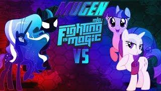 Mugen Fighting Is Magic UMvC3 Nightmare Sparkle & Nightmare Rarity VS Twilight Sparkle & Rarity