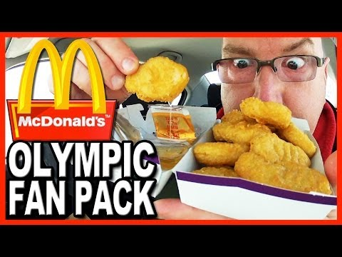McDonald's ★ Olympic Fan Pack 20 Chicken McNuggets 2 Medium Fries 2 Medium Drinks and 2 Cookies