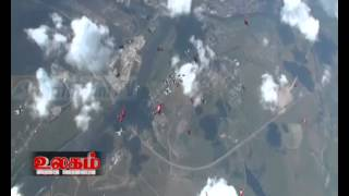 10 - Mid air 101 Russian parachute women jumping in flower pattern on the new record