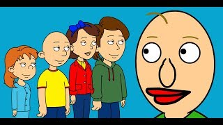 Caillou & The Family vs Baldi's Basics - Full Movie