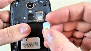 LG K10 (2017) - How to Insert SIM and Memory SD Card