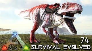 ARK: SURVIVAL EVOLVED - ALPHA GIGANOTOSAURUS KING GIGA TAMING E74 !!! ( ARK EXTINCTION CORE MODDED )