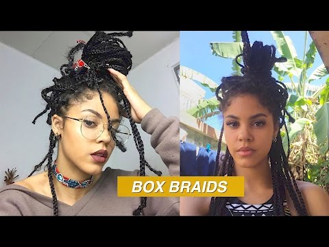 BOX BRAIDS TUTORIAL *MESSY STYLE*