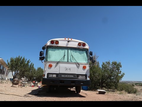 Bus Conversion to Motor Home #137 sub floor down/radiant floor done
