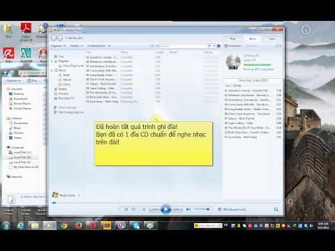 Hướng dẫn ghi đĩa CD nhạc bằng Windows Media Player trên Windowns
