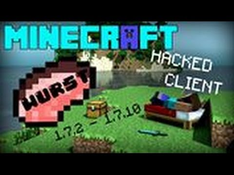 Minecraft 1.7.2 1.7.10 : Hacked Client Wurst Force OP Client HD
