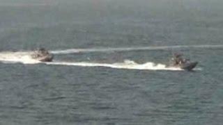 U.S. Navy fires warning shots against Iranian vessel