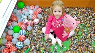 Свинка пеппа Играем вместе в рыбалку на детской площадке Новая игрушка Пеппа для детей Peppa pig toy