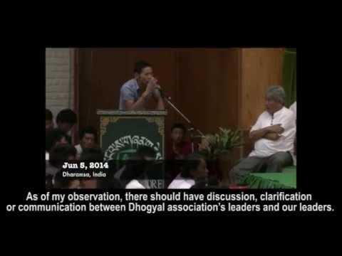 Tibetan youths question Sikyong Lobsang Sangay on Dorje Shugden