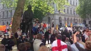 EDL London 27.05.13 riots in demo