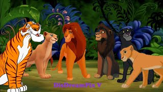 Nala and Shere-Khan, Kiara and Bagheera