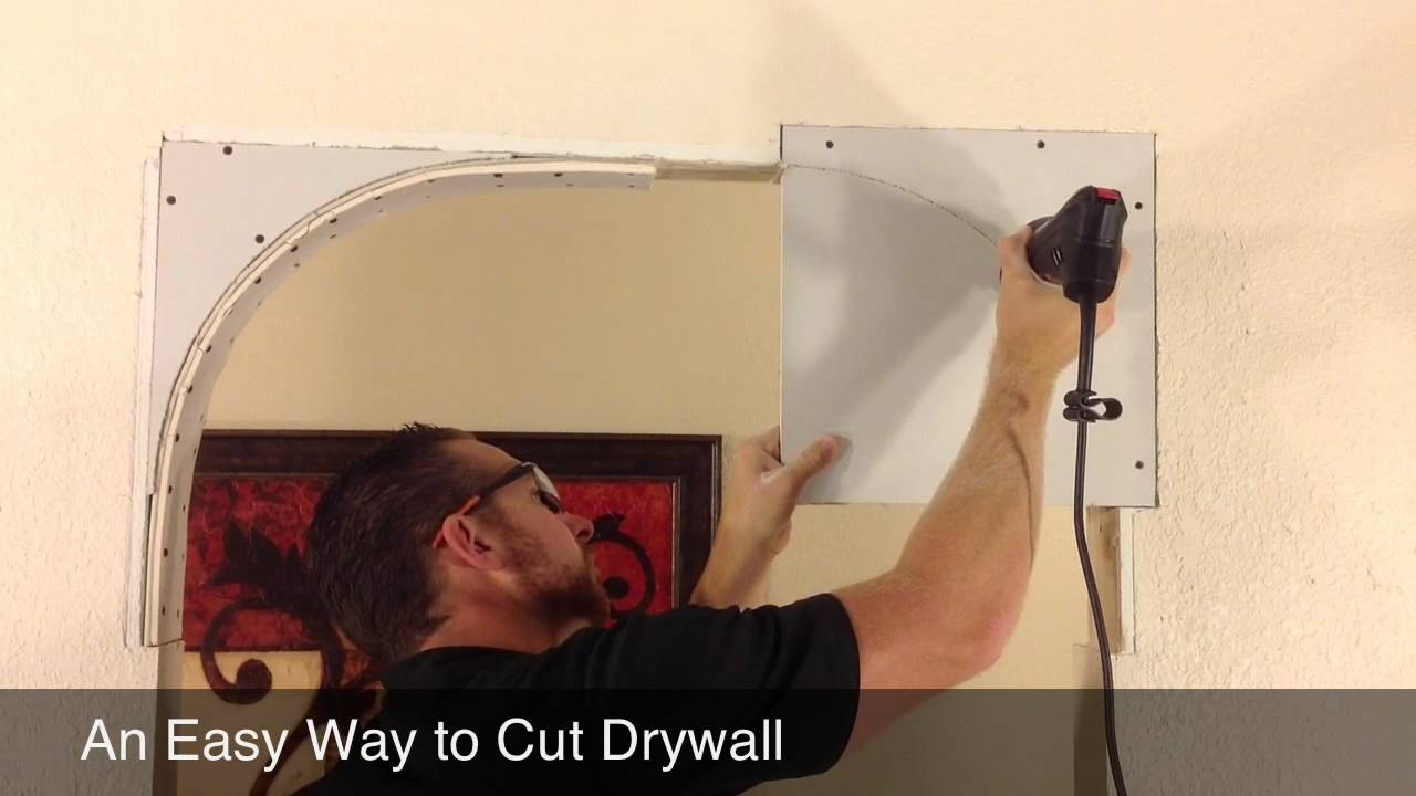 Quick Tip Cutting Drywall For An Arch Youtube