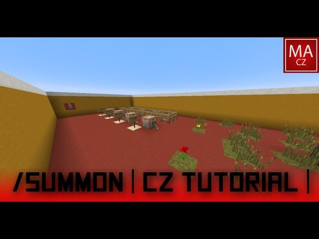 Minecraft /summon, cz tutorial, command block | Minecraft /summon | příkaz /summon