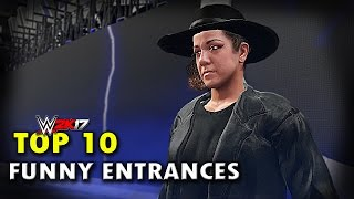 "WWE 2K17 - Top 10 Funniest Entrances Part 4 ""GIMMICK SWAP"" Bayley, Lesnar, Reigns & More (PS4 & XB1)"