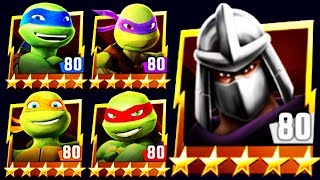 🐢 ALL NICK TURTLES DEFEAT SHREDDER BOSS (TMNT LEGENDS)