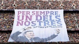 Tribute to Luis Enrique on his last game as coach at Camp Nou