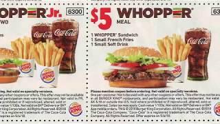 ASMR Burger King Coupons