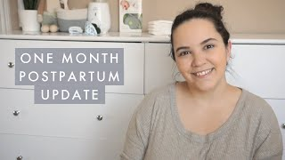 POSTPARTUM ONE MONTH UPDATE & BREASTFEEDING UPDATE - C-Section Recovery, Weightloss, Mood & Sleep
