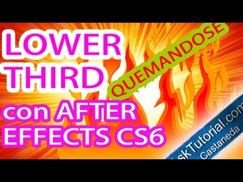 Lower Third Quemandose En After Effects Cs6 Parte 2