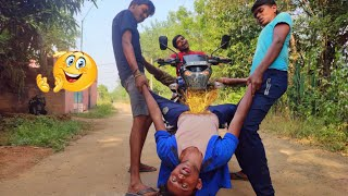 TRY TO NOT LAUGH CHALLENGE Must watch new funny video 2020_by fun sins।village boy comedy video।ep26