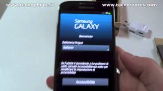 Samsung Galaxy S 4 : Unboxing e primo avvio